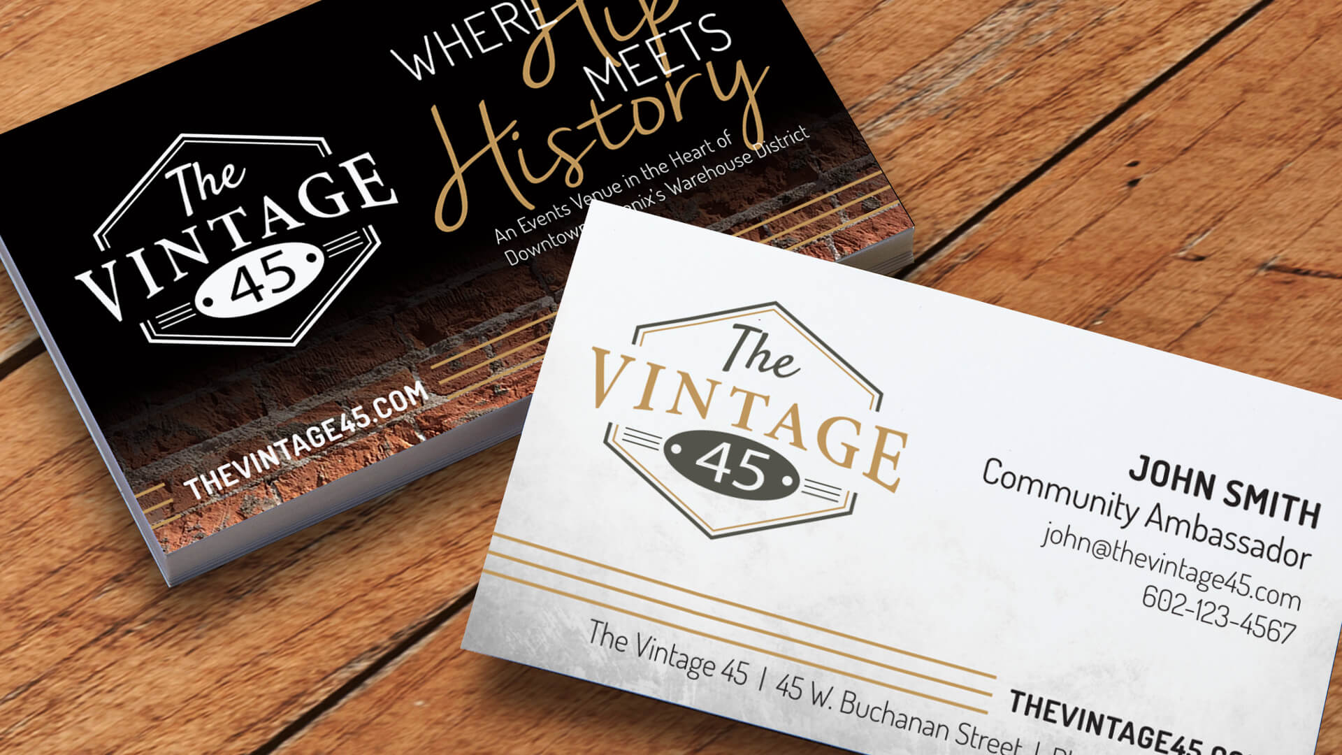 Logo Design Projects Header-The Vintage 45