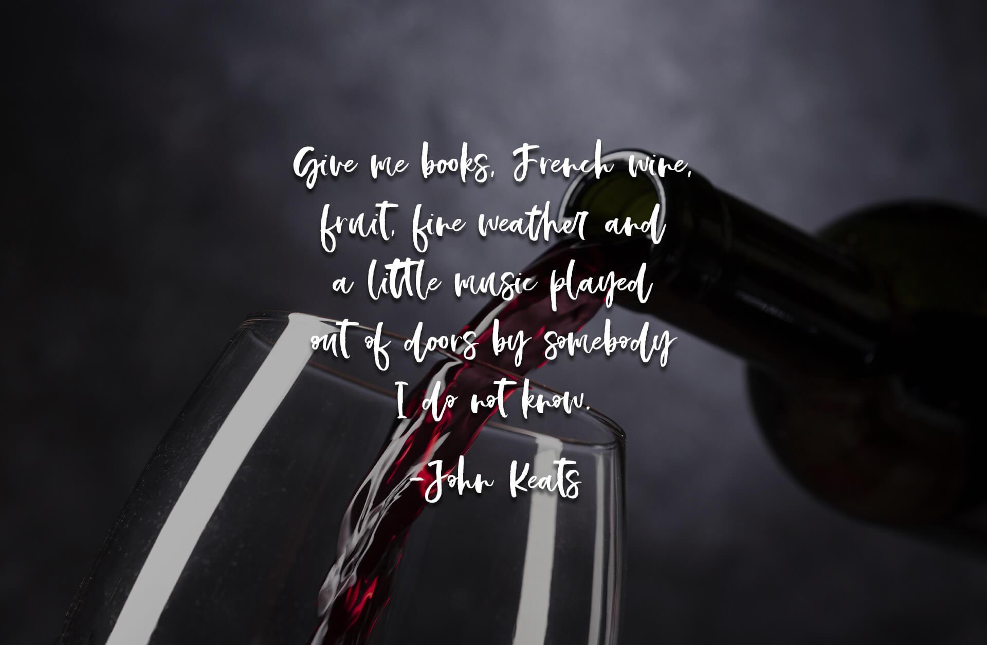 #100DaysOfWildWineDesign Wine Label Design-John Keats Quote