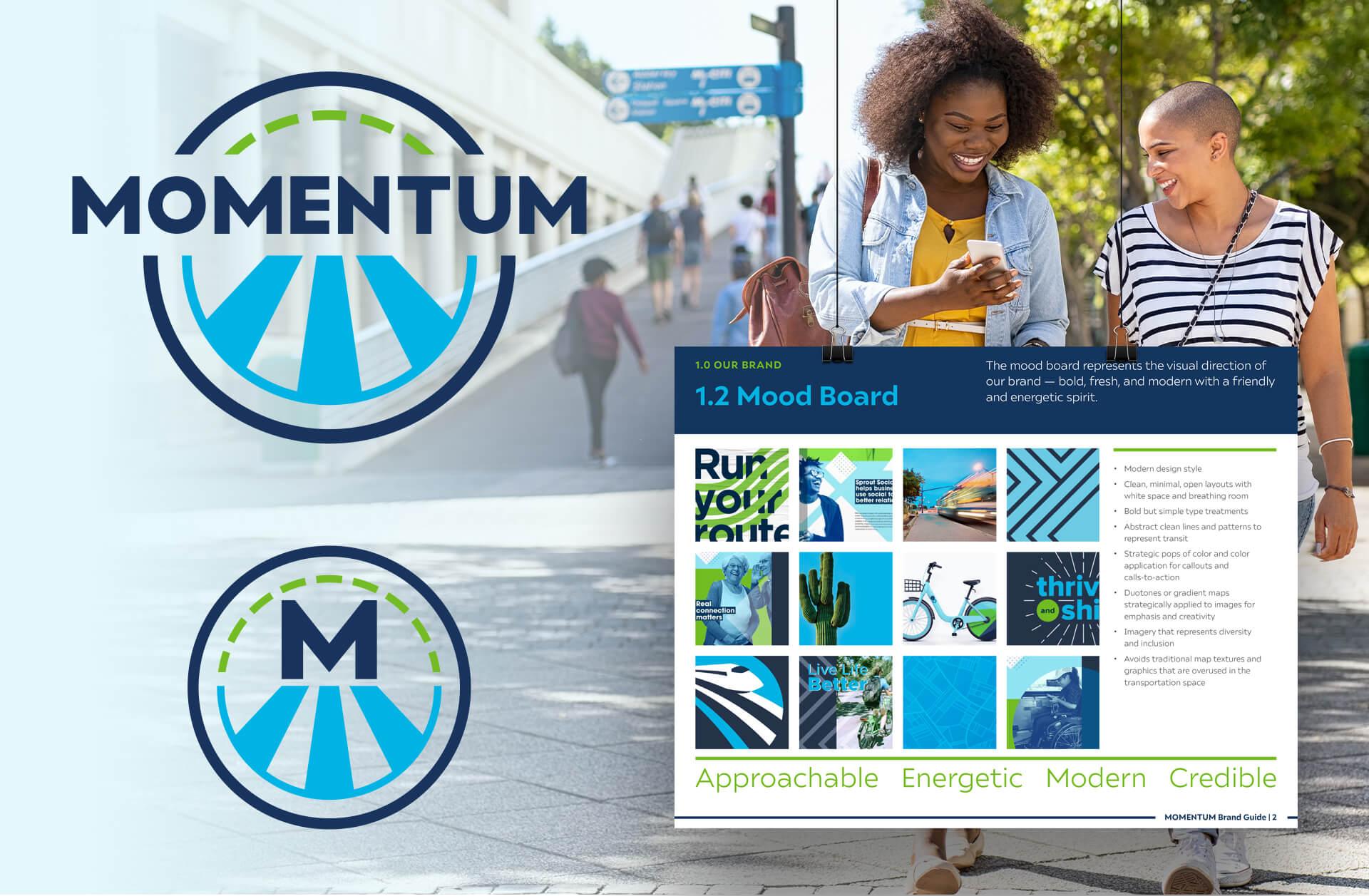 MOMENTUM Regional Transportation Plan-Logo Design