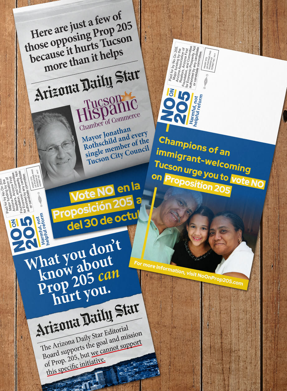 No On 205 for Tucson-Direct Mail