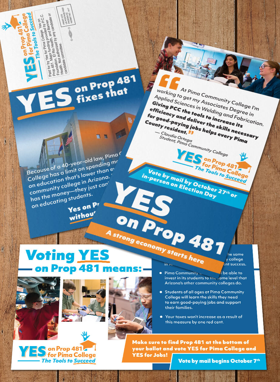 Yes on Prop 481 for Pima College-Direct Mail